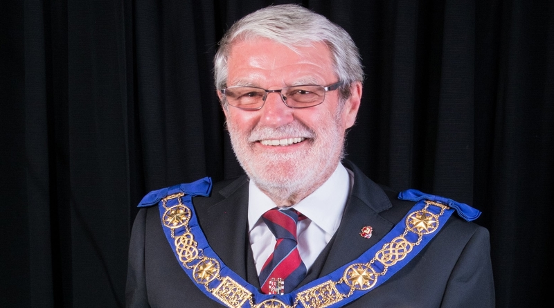 Mike Wilks, the Provincial Grand Master of the Masonic Province of Hampshire and Isle of Wight.