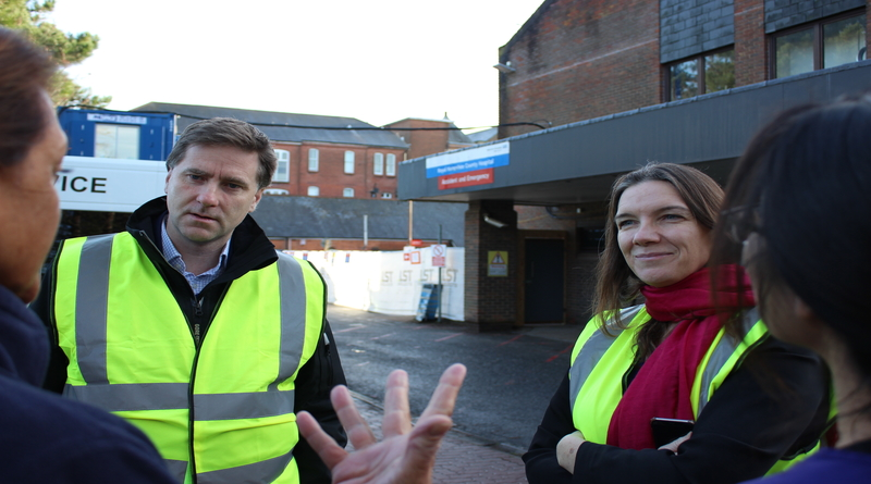 MP encouraged by building work taking place at Winchester hospital
