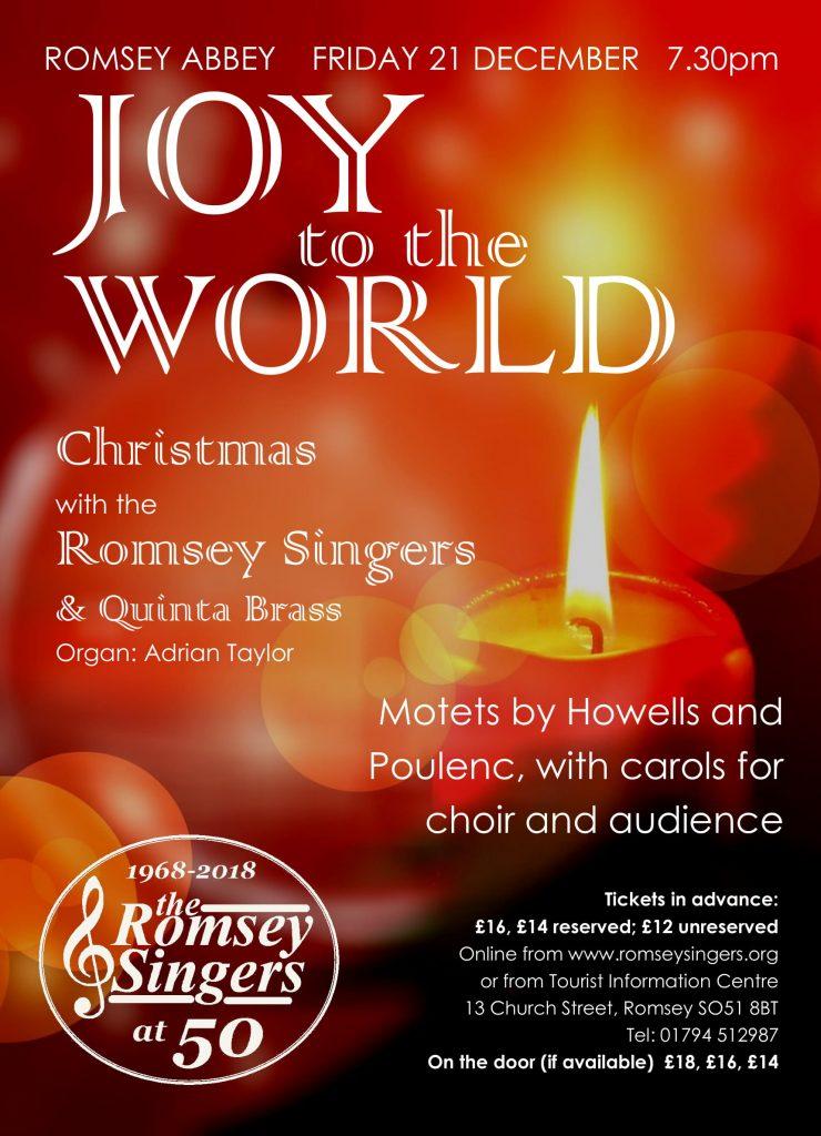 Romsey Singers Christmas Concert Poster