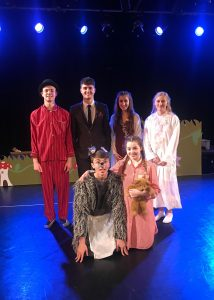 The Darlings from Andover College's Performing and Creative Departments Pantomime of Peter Pan .
