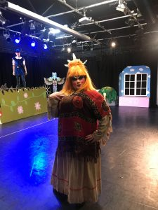 Tiger Lilly from Andover College's Performing and Creative Departments Pantomime of Peter Pan .