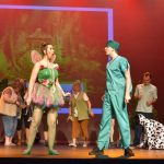 Hospital staff performing as Tinkercrashbell and Peter Bedpan