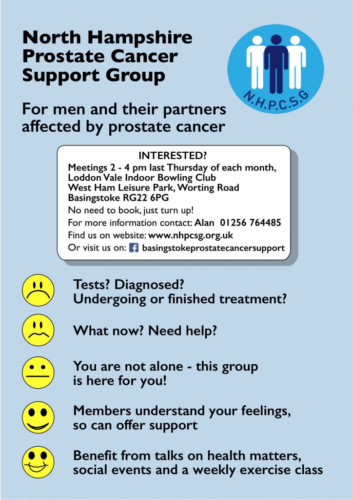 North Hampshire Prostate Cancer Support Group Poster
