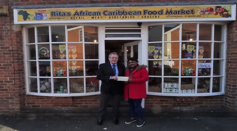 African Caribbean food market