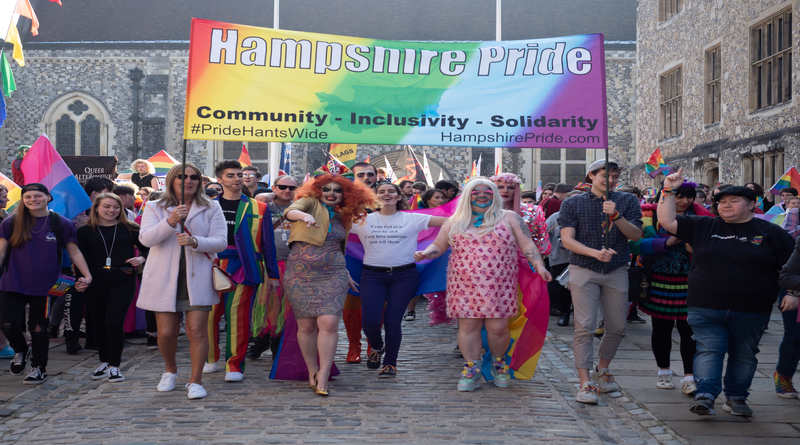 Hundreds take part in Fifth Hampshire Pride
