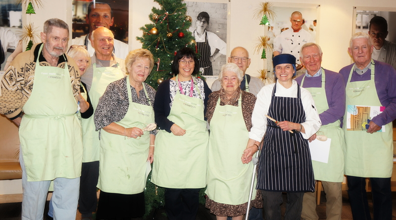 Participants completing the Rowan's Hospice's cookery course.
