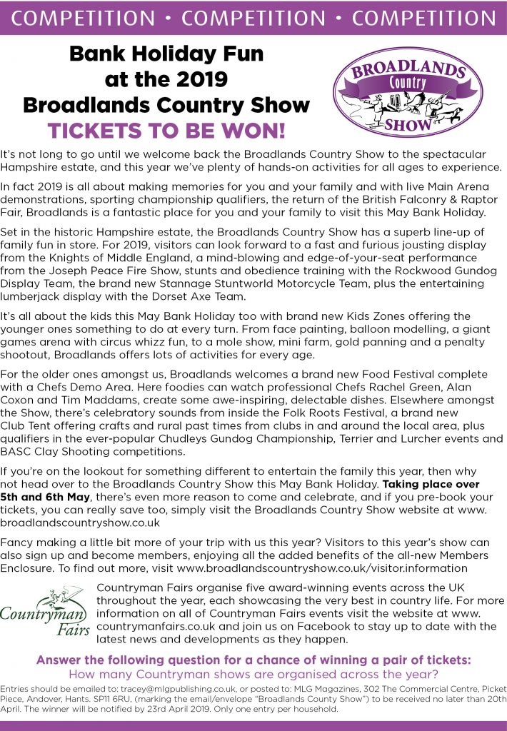 COMPETITION - Broadlands Country Show