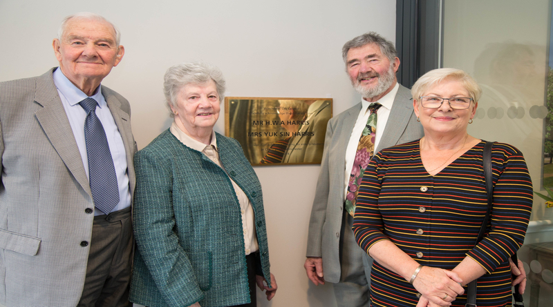 Family of Chesil Lodge benefactor unveil plaque at emotional Winchester celebration