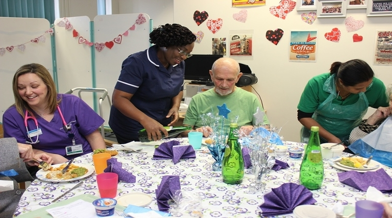 Lunch club at Basingstoke and North Hampshire Hospital