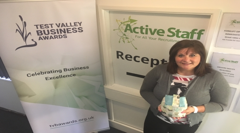 Lisa Armstrong of Active Staff with entry prize