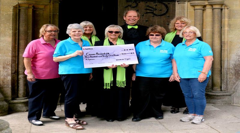 Woodside Singers raise over £300 for Romsey and Wellow Friends of Cancer Research UK