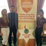 Chloe, Julian and Clarissa Chen at the Pride of Andover Awards launch