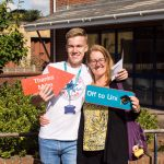 Ethan and his mum, to study dental surgery at Plymouth
