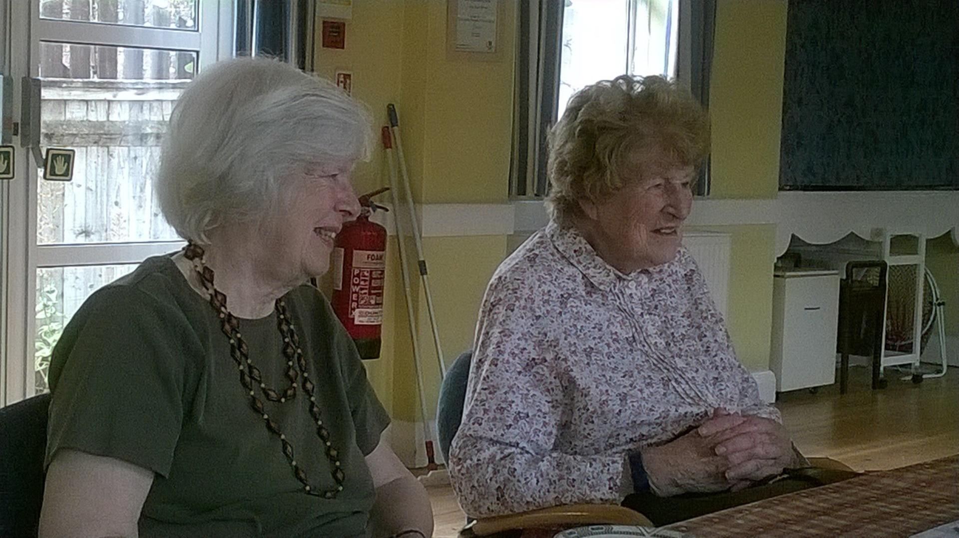 A couple of members at the Romsey Weekenders Club