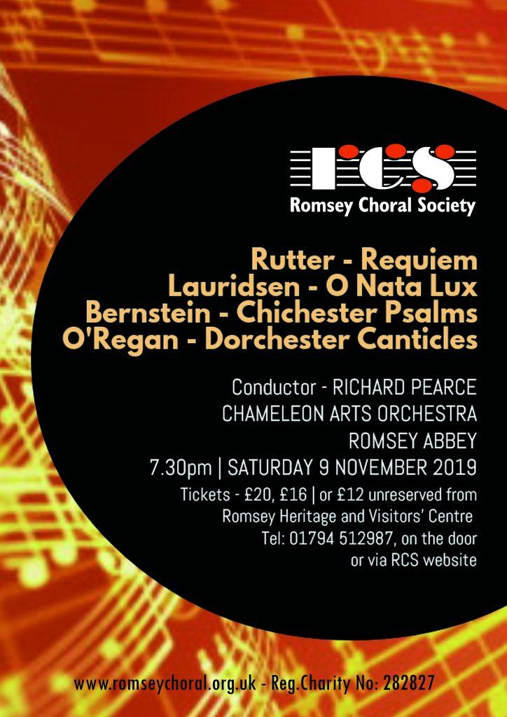 Romsey Choral Society Nov19 Poster