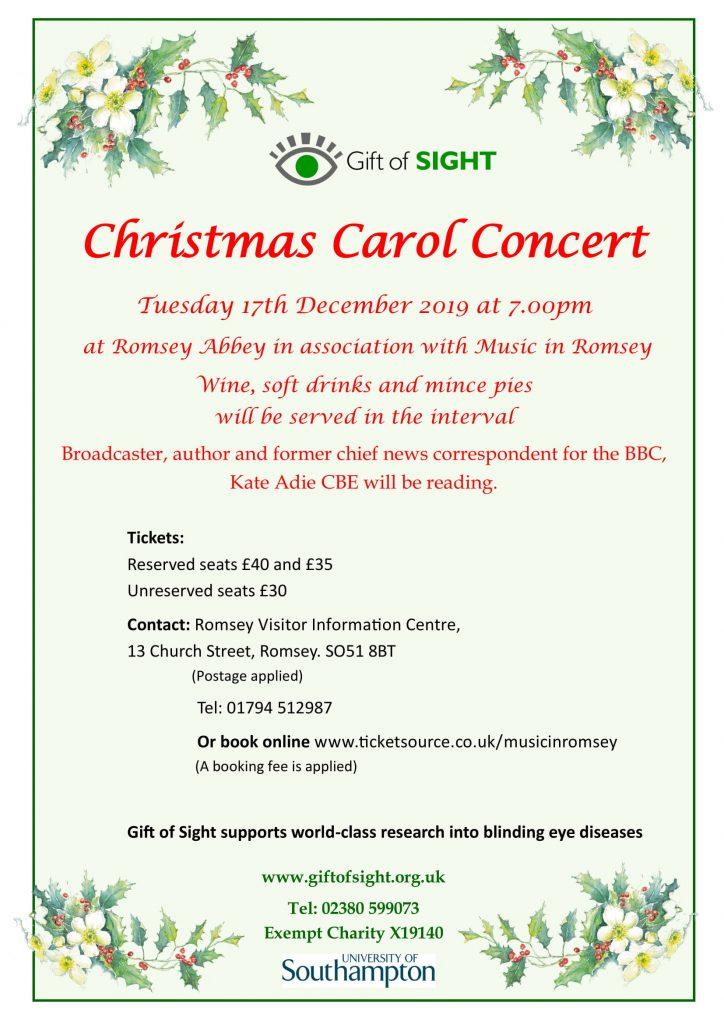 Gift Of Sight Christmas Carol Concert