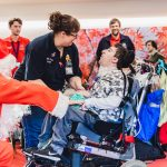 Father Christmas pays flying visit to children and families at hospice 10