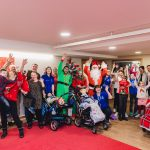 Father Christmas pays flying visit to children and families at hospice 14