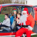 Father Christmas pays flying visit to children and families at hospice 16