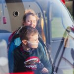 Father Christmas pays flying visit to children and families at hospice 17