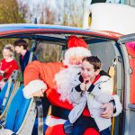 Father Christmas pays flying visit to children and families at hospice 19