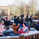 Father Christmas pays flying visit to children and families at hospice 3