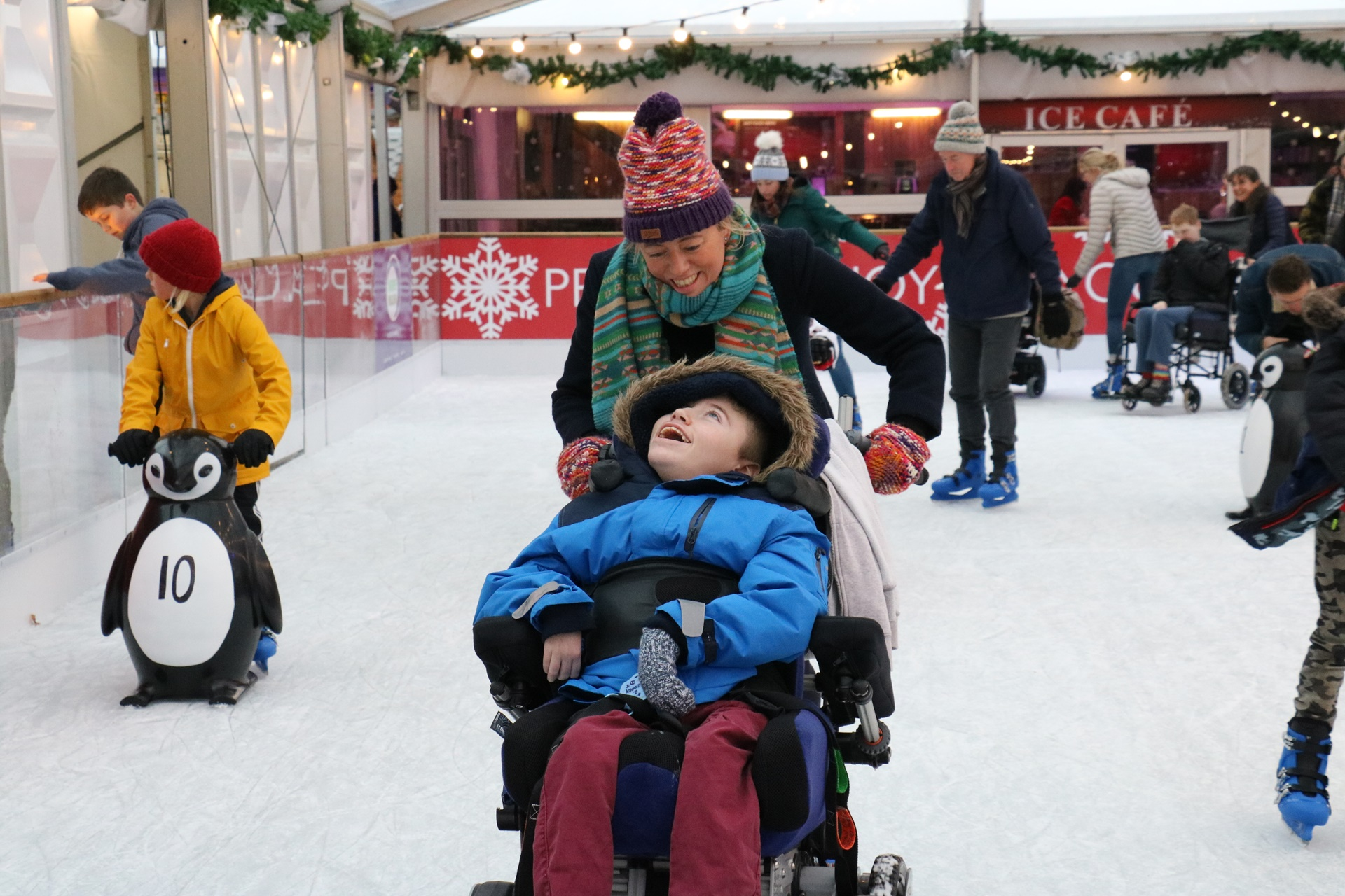 Naomi House & Jacksplace families take over Winchester Cathedral Ice Rink for a festive skate