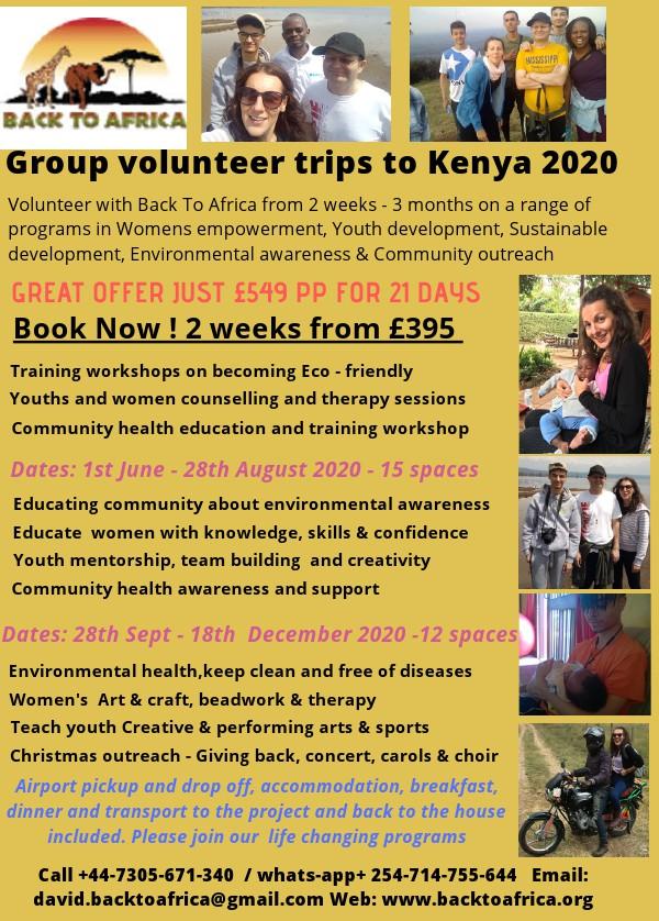 2020 volunteer programs