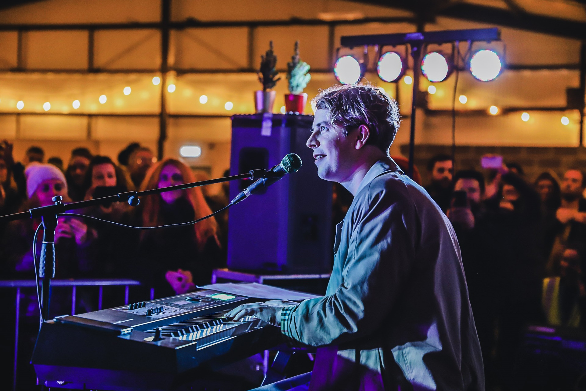 Andy Burrows and Tom Odell perform intimate warehouse gig in aid of region's children's hospice
