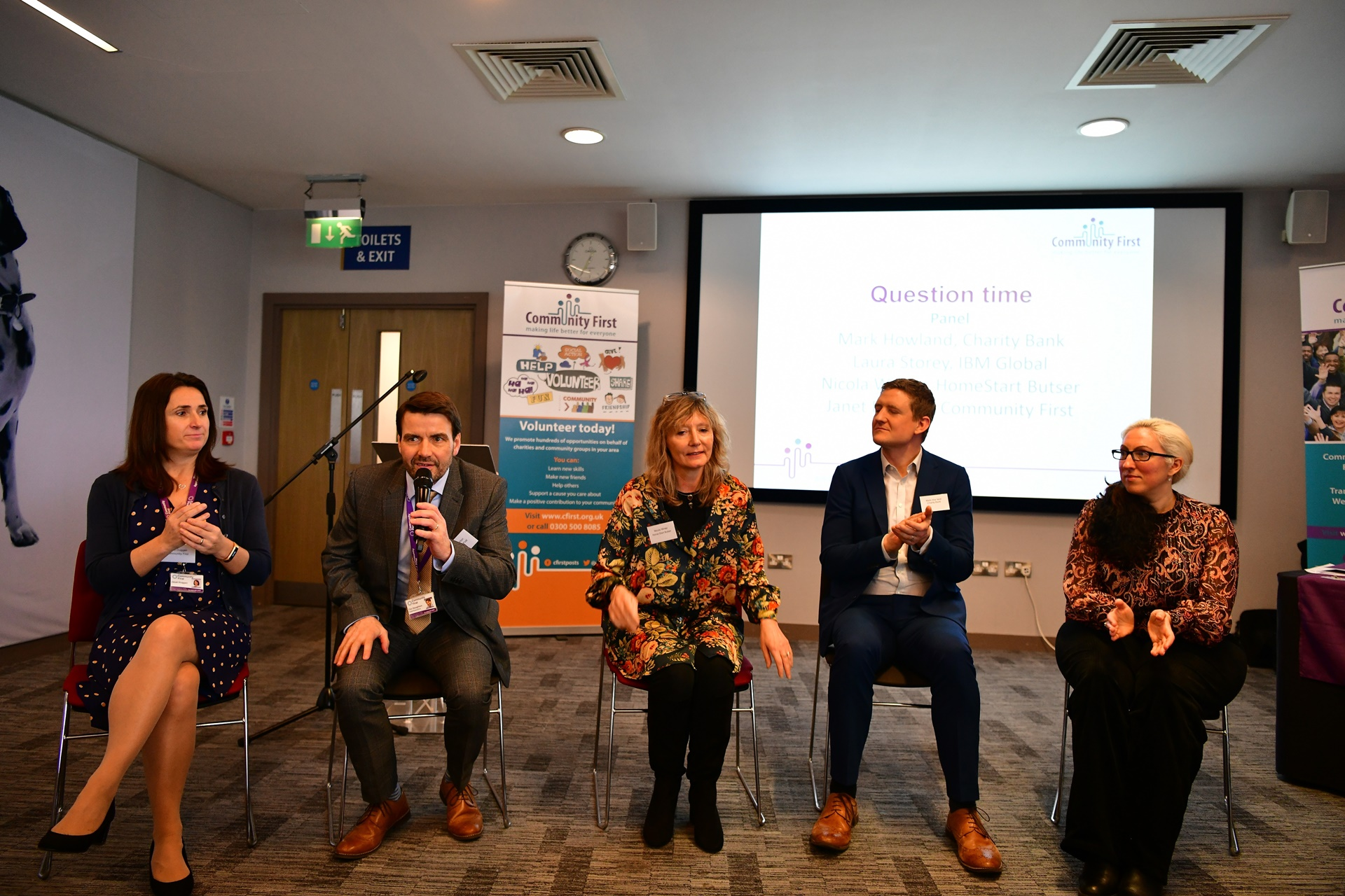 Ask the Expert panel at Volunteering for the Future