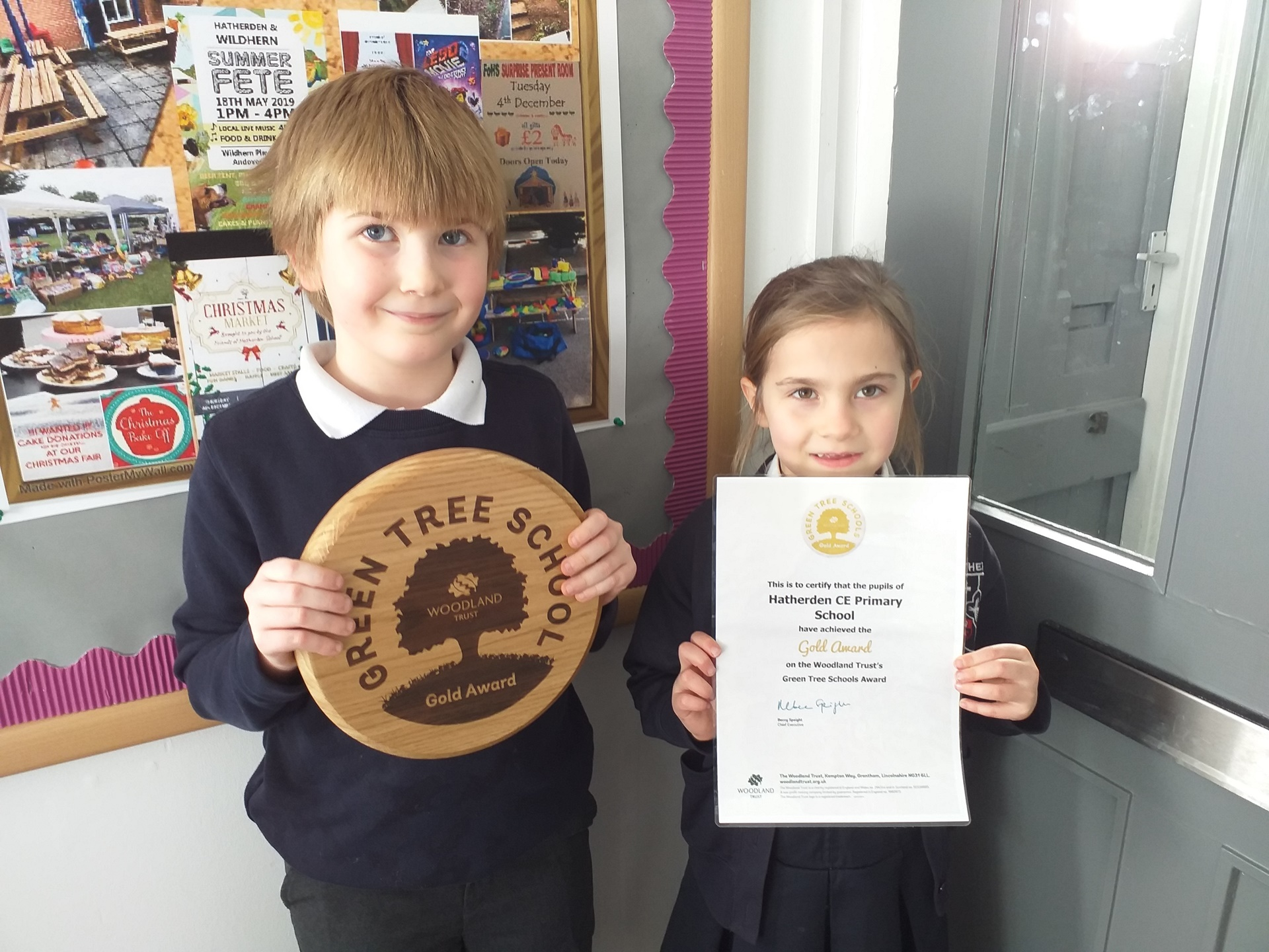 Hatherden CE Primary School Gold Award.