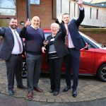 Winner of charity lottery drives away in brand new car 3