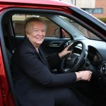 Winner of charity lottery drives away in brand new car 2