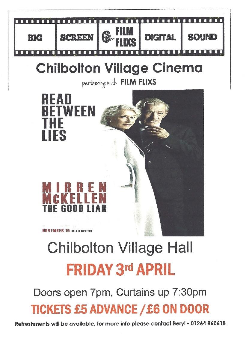 Chilbolton Cinema April