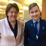 Dmitrijs Meiksans with MP for Basingstoke, Maria Miller