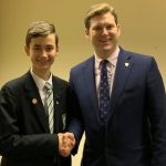 Dmitrijs Meiksans with the Leader of Test Valley Borough Council, Phil North