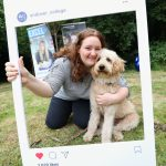 Julia Pinnock With Andover College Support Dog Arlo