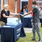 Students Attended a Socially Distanced Results Day Celebration at Andover College