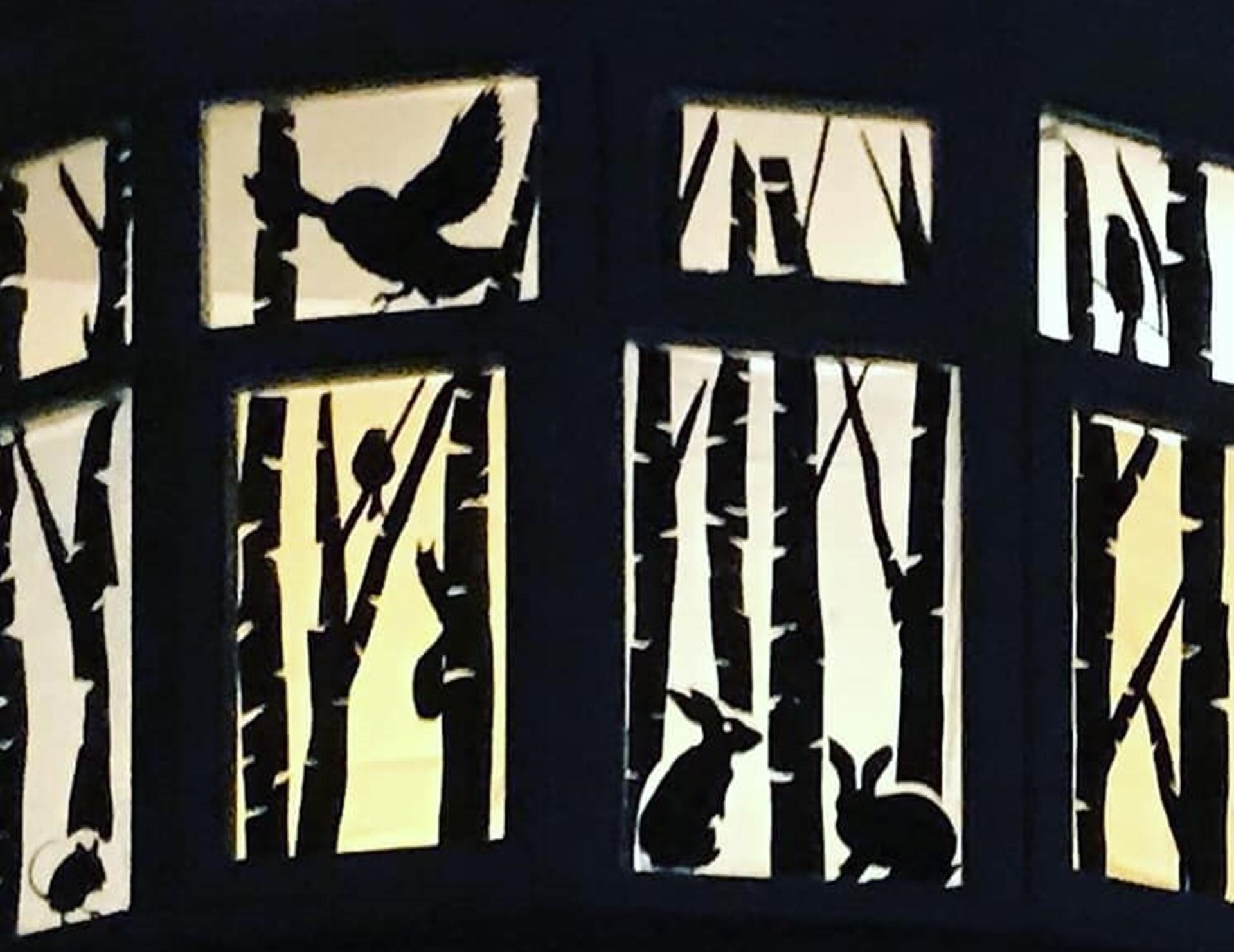 B&W Bird window