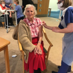 Resident, Betty Mobbs, at Brendoncare Knightwood
