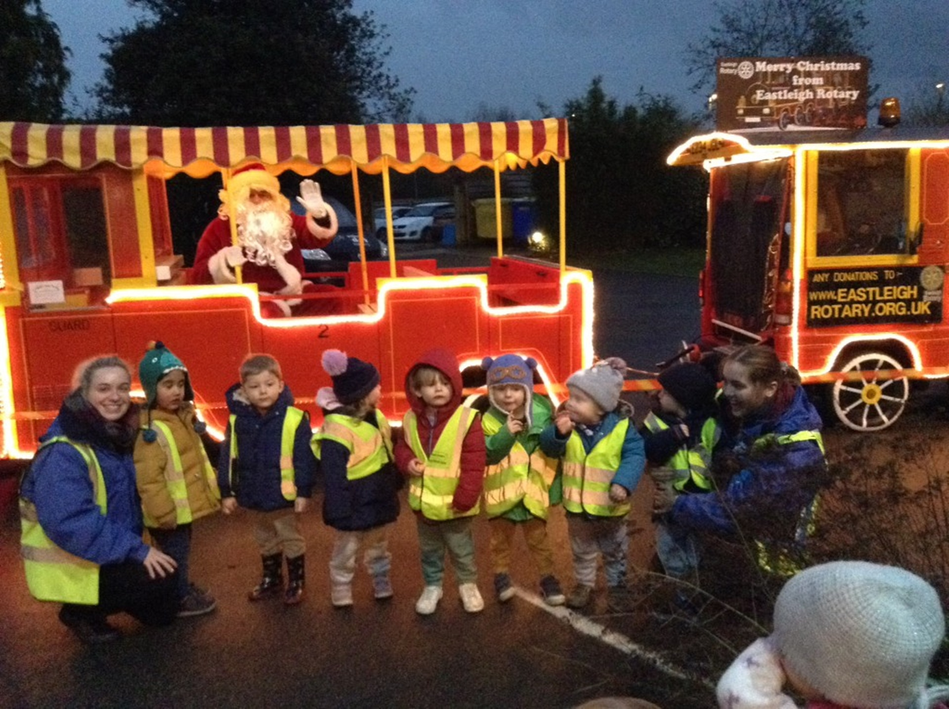 Santa visited children at Bright Horizons Nursery